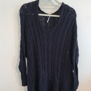 Free People Knit V-Neck Sweater